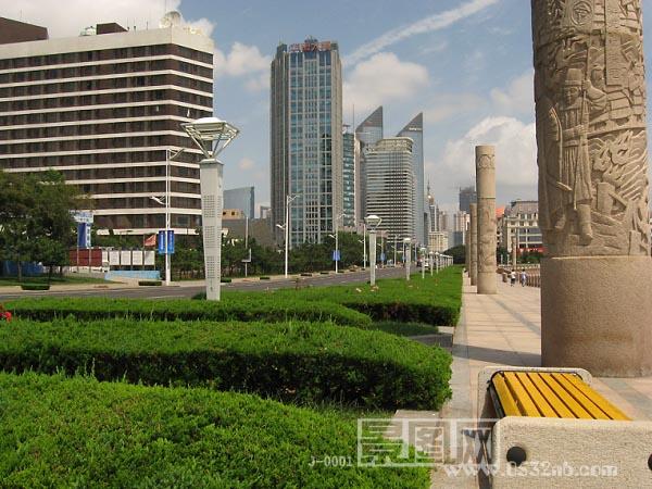 青岛海涛园雕塑-雕刻石柱子